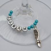 Comb Personalised Wine Glass Charm